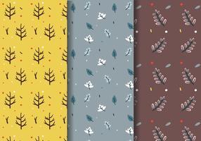 Vector de padrões de queda de árvores de outono
