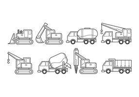 Vectores de vehículos de construcción gratis