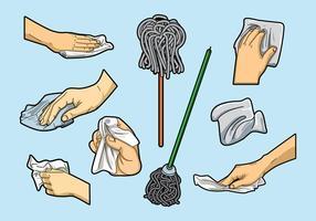 Vectores libres de la limpieza