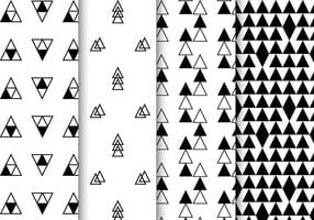 Free Black and White Geometrische Muster Vektor