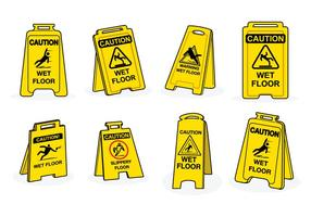 Free Wet Floor Sign Vector