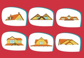 Klassische Dächer Vektor