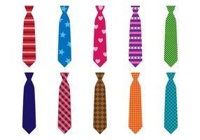 Ensemble gratuit de vecteur de cravate colorée