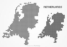 Vetor de mapa de pixel holandês grátis