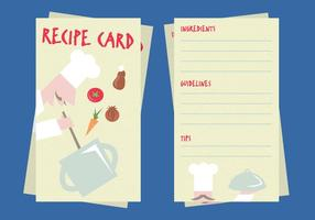 Vector d'illustration de carte de recette