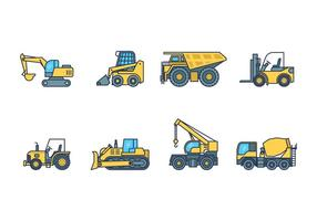 Heavy Machinery Icon vector