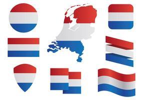 Libre Países Bajos Mapa De Los Iconos Vector