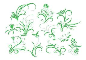 Gratis Vintage Bloemen Ornament Vector