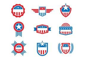 Free US States Badges et Seal Vectors