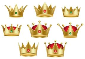Colección Classic Queen Crown vector
