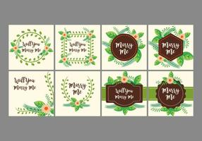 Free Marry Me Card Design Vector