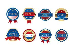 Vettore di elezioni presidenziali della guarnizione libero