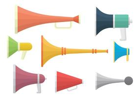 Vuvuzela icone vettoriali gratis