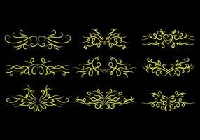 Pinstripes Ornament Icon Vectors