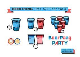 Pack gratuit de vecteur Beer Pong