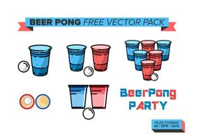 Cerveza Pong Pack Vector Libre