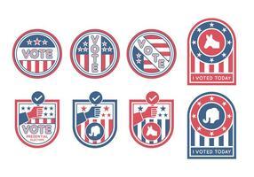 Vecteurs de badges électoraux