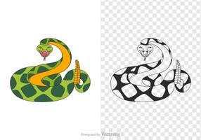 Ilustración de vectores de serpiente de cascabel gratis