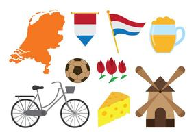 Países Bajos Iconos Vector