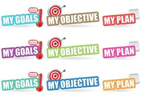 Goals Titles vector