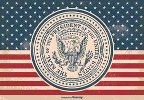 Vintage Presidential Seal Illustration