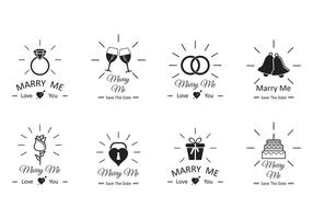 Set Of Marry Me Vector
