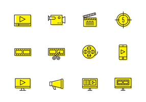 Video-Produktion Icons