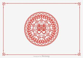 Gratis Double Happiness Paper Cut Vector