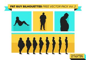 Fat Guy Silhouettes Free Vector Pack Vol. 2