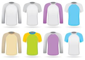 Raglans coloridos vector