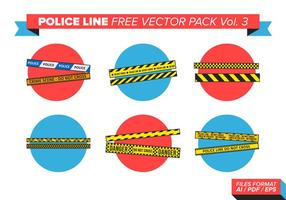 Ligne de police pack vectoriel gratuit vol. 3