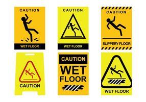 Vector de piso húmedo