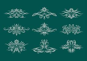 Pinstripe Scrollwork Vector Iconos