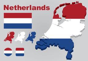 Nederländerna Kart Vektor