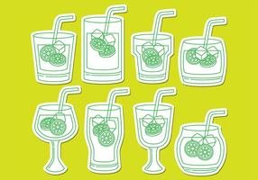 Caipirinha Drink Icons vector