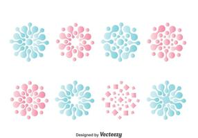 Nanotechnology Symbol Collection vector