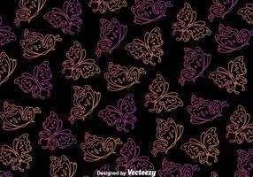 Mariposa fondo negro sin fisuras vector