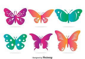 Färgglada Butterfly Vector Set