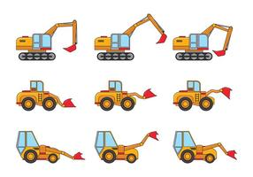 Skid Steer Vector Pictogrammen