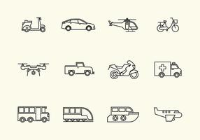 Gratis Vehicle Vector Icon