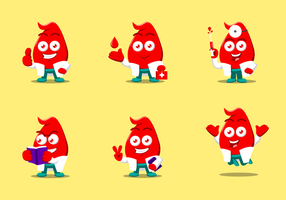 Free Blood Drive Character Vectors