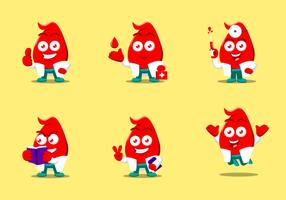 Vetores de caracteres livres de sangue