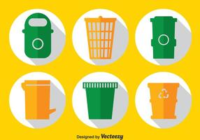 Cubos de basura conjunto de vectores