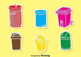 Colorful Garbage Icons Vector