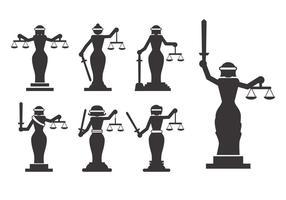 Vetor da justiça da senhora