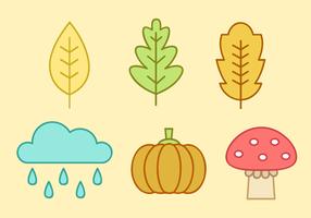 Vetor livre de elementos de outono