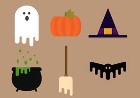 Vecteur gratuit d'éléments de halloween