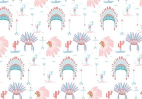 Indian Headdress Pattern Vector