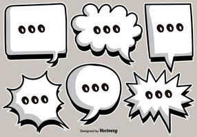Vector de dibujos animados blanco Speech Bubbles