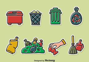Handdragen Garbage Vector Set